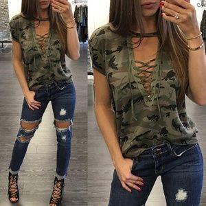 Short Sleeve Camouflage Loose T-Shirt